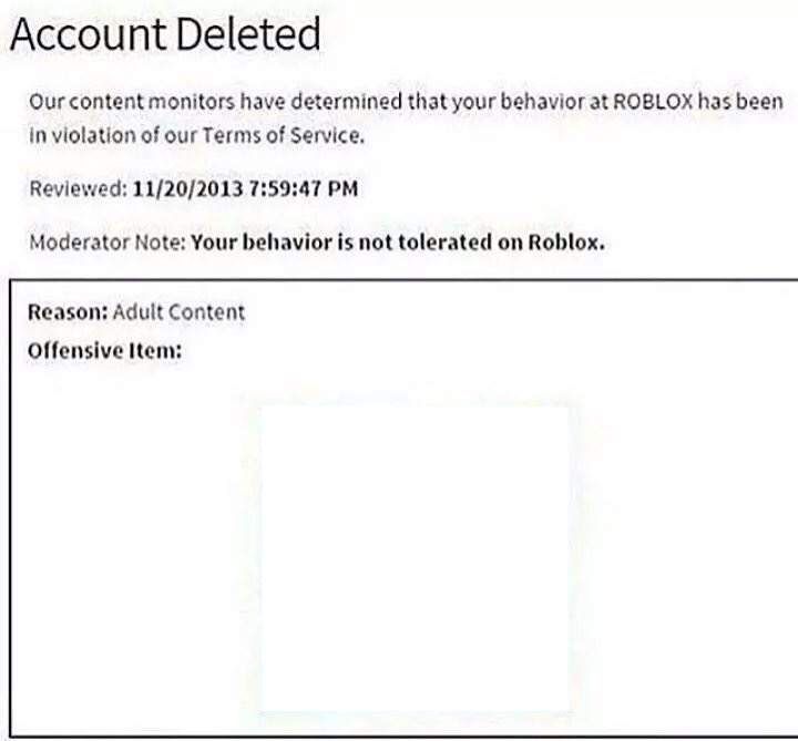 roblox account deleted picture
