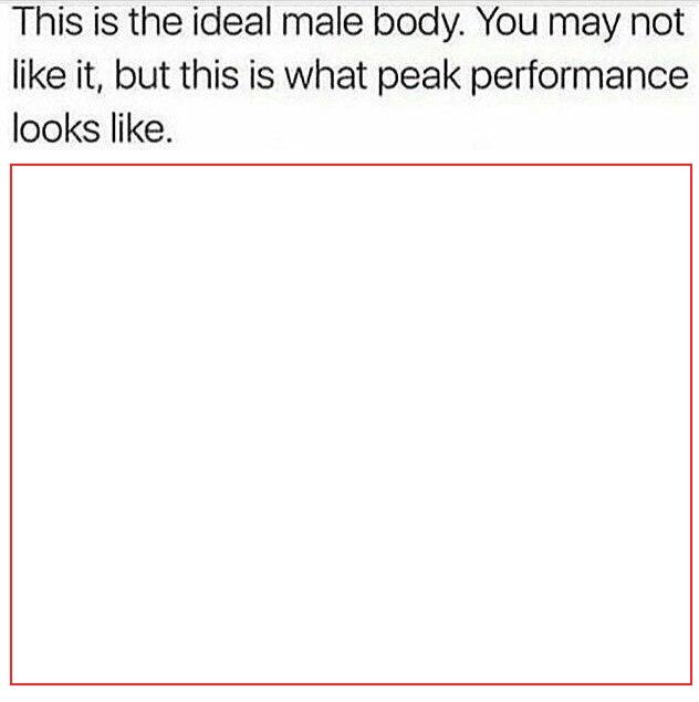 Ideal Male Body DESIGN TEMPLATE