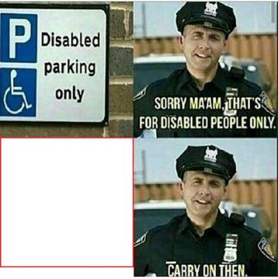 Shitpostbot 5000 disabled parking design template maxwellsz
