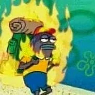 Image result for spongebob burning fish